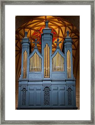 Blue And Gold Music Framed Print