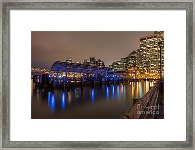 Blue And Gold Night Framed Print
