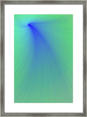 Blue And Green Abstract Framed Print by Paul Sale Vern Hoffman