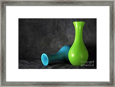 Blue And Green Framed Print by Dan Holm