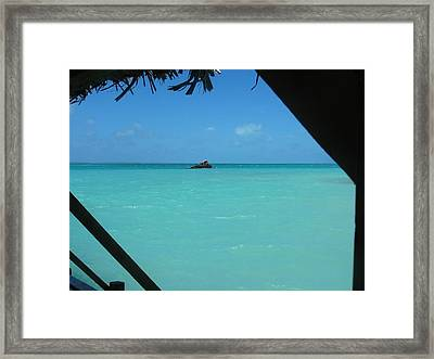 Framed Print featuring the photograph Blue And Green by Photographic Arts And Design Studio