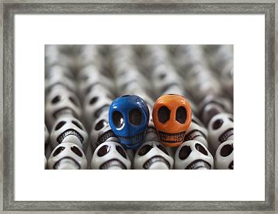 Blue And Orange Framed Print by Mike Herdering