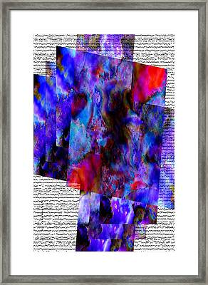 Blue And Red Sopts Framed Print by Mario Perez