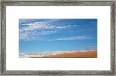 Blue And Tan Framed Print by Peter Tellone