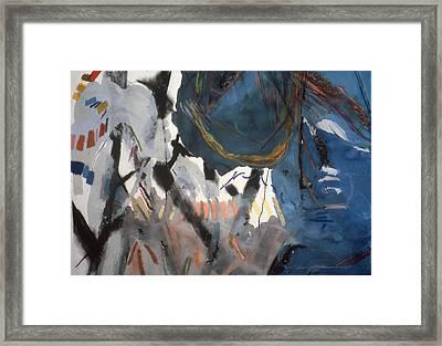 Blue And White# 1 Framed Print