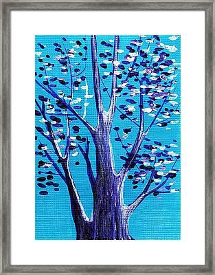 Blue And White Framed Print by Anastasiya Malakhova