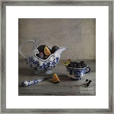 Blue And White China Framed Print