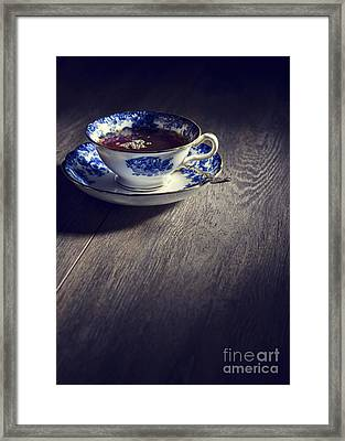 Blue And White China Teacup Framed Print