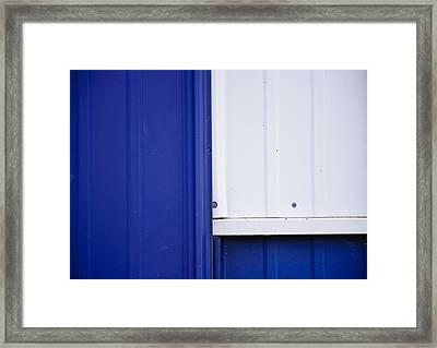Blue And White Framed Print by Christi Kraft