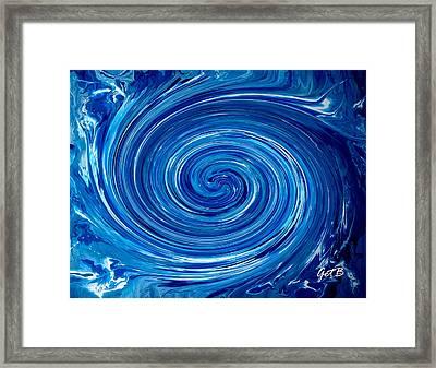 Blue And White Dance Framed Print by Georgeta  Blanaru