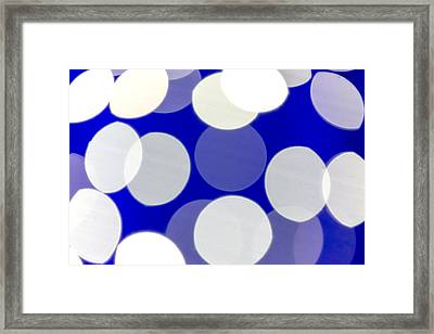 Blue And White Light Framed Print