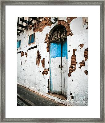 Blue And White  Framed Print by Perry Webster