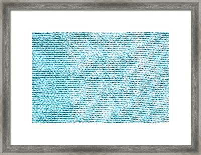 Blue And White Wool Framed Print
