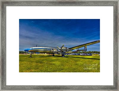 Blue And Yellow Connie Framed Print