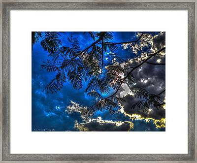 Framed Print featuring the photograph Blue And Yellow Skies by Ross Henton