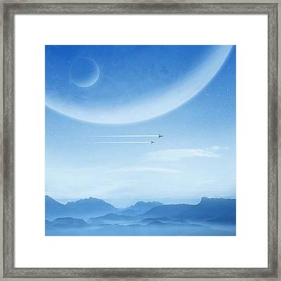 Blue Framed Print by Andrzej Siejenski