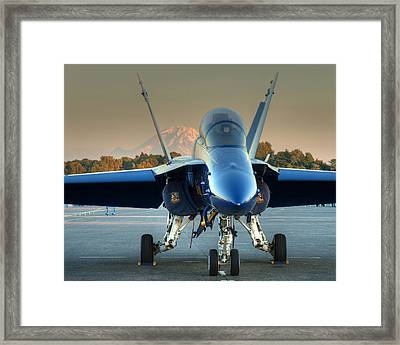 Blue Angel At Sunset Framed Print by Jeff Cook