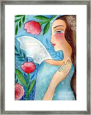 Blue  Angel Framed Print by Elaine Jackson