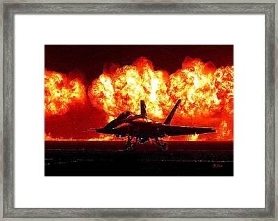 Blue Angels On Fire Framed Print by Brad Fenichel