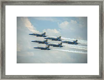 Blue Angels Delta Pass Framed Print