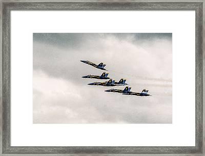 Blue Angels Framed Print by Eduard Moldoveanu