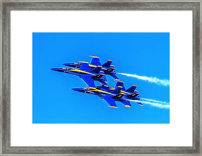 Blue Angels Glow Framed Print by Bill Gallagher
