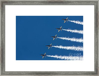 Blue Angels On Blue Framed Print by John Daly