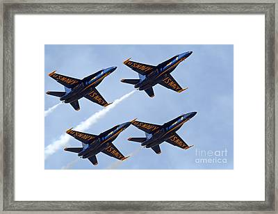Blue Angels Over Colorado Framed Print