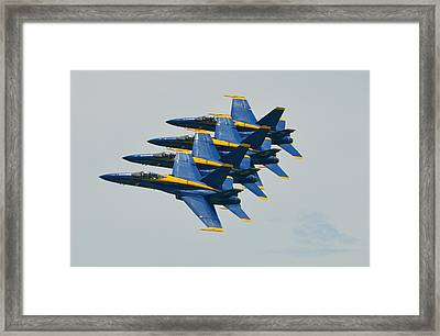 Blue Angels Practice Echelon Formation Framed Print by Jeff at JSJ Photography