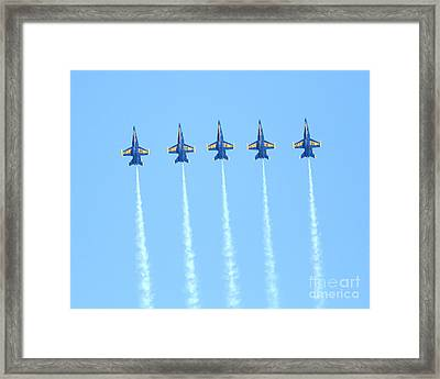 Blue Angels Reaching New Heights Framed Print