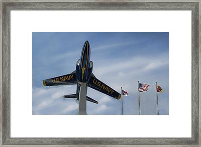 Framed Print featuring the photograph Blue Angels Tribute by Victor Montgomery