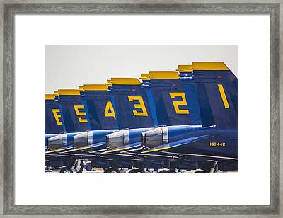 Blue Angels Wings Framed Print by John McGraw