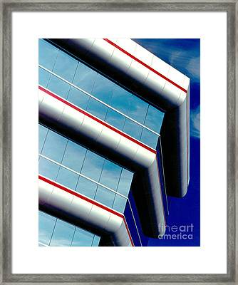 Blue Angled Framed Print by Gary Gingrich Galleries