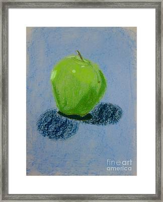 Blue Apple Framed Print by Christopher Murphy