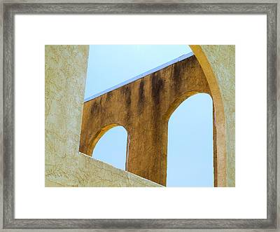 Blue Arches Framed Print
