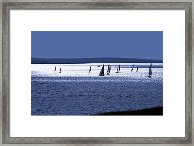 The Blue Armada Framed Print
