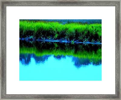 Blue Ashley Framed Print