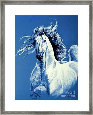 Blue Attitude Framed Print