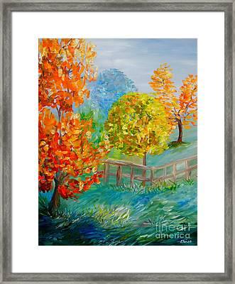 Blue Autumn Framed Print by Eloise Schneider