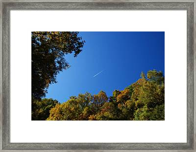 Framed Print featuring the photograph Blue Autumn Skies by Kelvin Booker