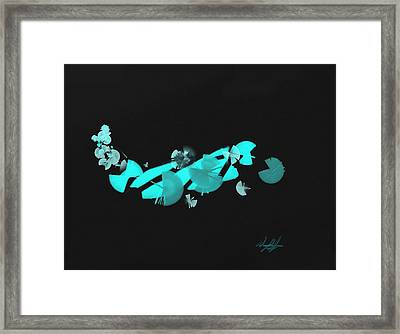 Blue Autumn Twist Framed Print