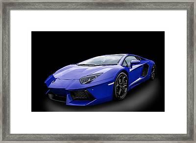 Blue Aventador Framed Print