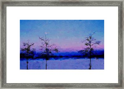 Blue Ballet Framed Print