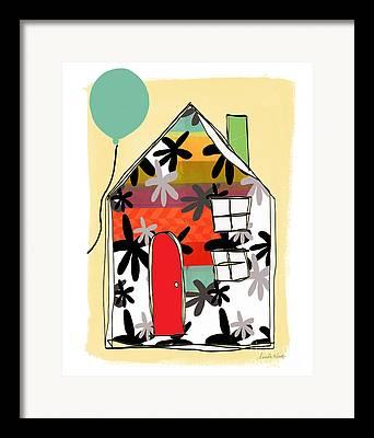 Balloon Flower Mixed Media Framed Prints