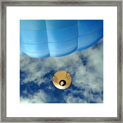 Blue Balloon Framed Print by Stephen Richards