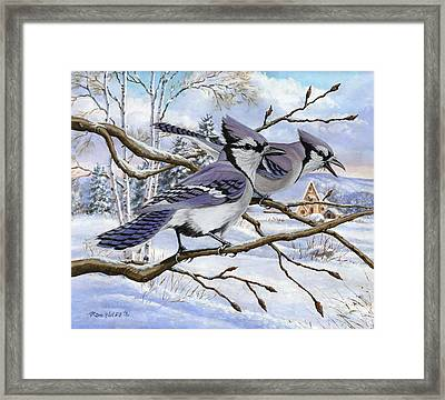 Blue Bandits Winter Afternoon Framed Print by Richard De Wolfe
