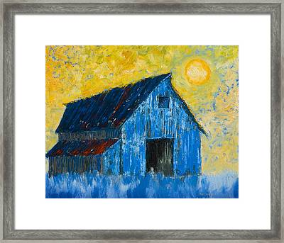 Blue Barn Number One Framed Print