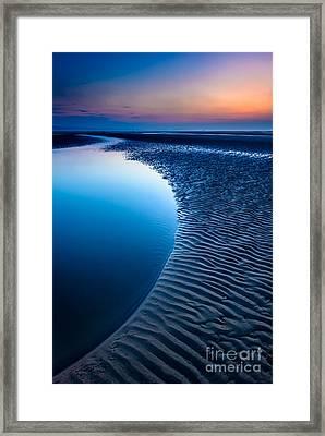 Blue Beach  Framed Print by Adrian Evans