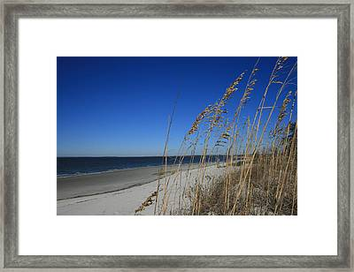 Blue Beach Framed Print by Barbara Northrup