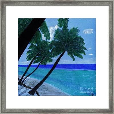 Blue - Beach Framed Print